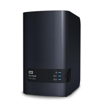 Мрежови диск (NAS) WD My Cloud EX2 Ultra, двуядрен Marvell ARMADA 385 1.3GHz, 16TB HDD, 1GB RAM, Lan1000 image