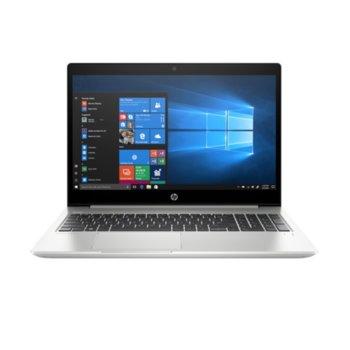 "Лаптоп HP ProBook 450 G6 (5TK99EA)(сребрист), четириядрен Whiskey Lake Intel Core i7-8565U 1.8/4.6 Ghz, 15.6"" (39.62cm) Full HD IPS Display, (HDMI), 16GB DDR4, 512GB SSD, 1x USB Type-C, Windows 10 Pro, 2 кг. image"