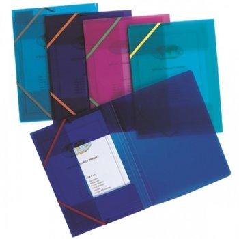 Папка PVC, Snopake A4, с ластик, неон асорт image