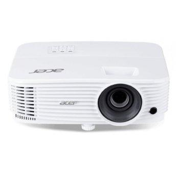 Проектор Acer P1250B, MR.JPP11.001, DLP, XGA(1024x768), 20000:1, 3600 lm, HDMI, HDMI/MHL, VGA, RCA, USB, RJ-45, бял image