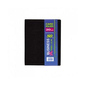 Визитник Business, събира 160бр. визитки, черен image