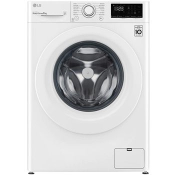 Перална машина LG F4WN208N3E, клас A+++, 8 кг. капацитет, 1400 оборота, 14 програми, свободностояща, 60 cm, Rinse + Spin бяла image