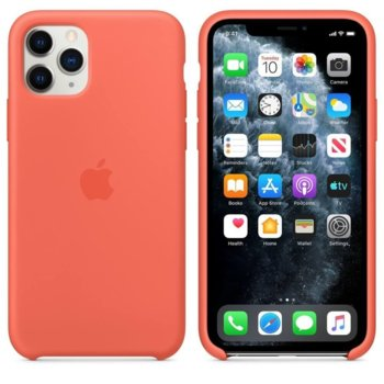 Калъф за Apple iPhone 11 Pro Max, силиконов, Apple Silicone Case MX022ZM/A, оранжев image