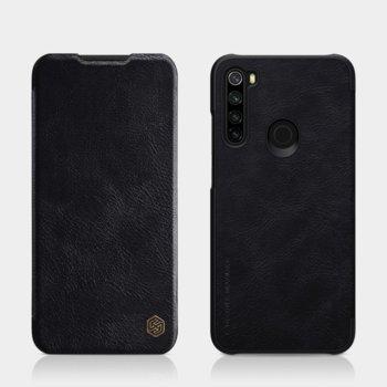 Калъф за Xiaomi Redmi Note 8T, flip cover, кожен, Nillkin QIN Leather, луксозен, черен image