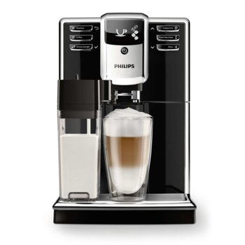 Aвтоматична кафемашина Philips Series 5000 EP5360/10, 5 напитки, Вградена кана за мляко, PianoBlack, AquaClean image