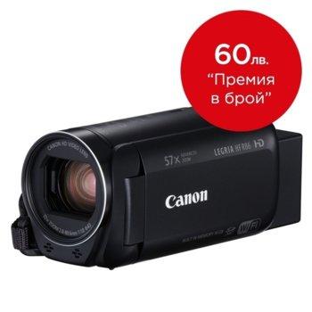 """Видеокамера Canon LEGRIA HF R86, Full HD, 3.0"""" (7.62 cm) LCD сензорен дисплей, 32x оптично увеличение, 16GB Flash памет, SDXC/SDHC слот, USB mini (TypeB), mini HDMI, Wi-Fi, NFC image"""
