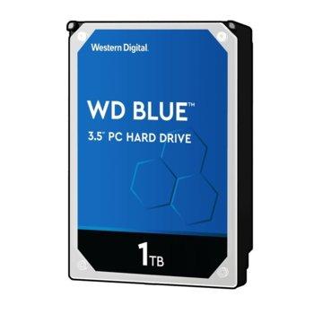 """Твърд диск 1TB WD Blue PC, SATA 6Gb/s, 7200rpm, 64MB, 3.5""""(8.89 cm) image"""
