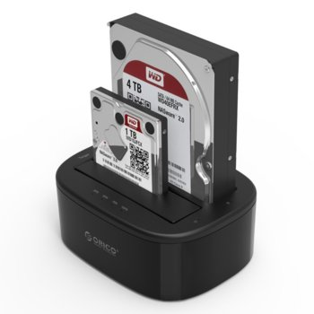 "Докинг станция Orico 6228US3-C за 2.5/3.5"" HDD/SSD, USB 3.0 (Type-B), черна image"