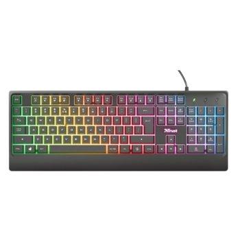 Клавиатура Trust Ziva, подсветка, черна, USB image
