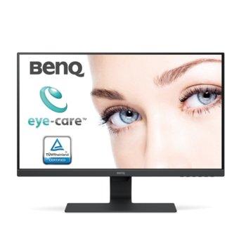 """Монитор BenQ GW2780 (9H.LGELB.CBE), 27"""" (68.58 cm) IPS панел, Full HD, 5ms, 20,000,000 : 1, 250 cd/m2, DisplayPort, HDMI, VGA image"""