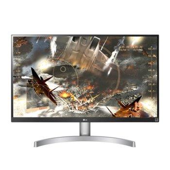 """Монитор LG 27UL650-W, 27"""" (68.58 cm) IPS панел, 4K/UHD, 5ms, 5 000 000:1, 350cd/m2, Display Port, HDMI image"""