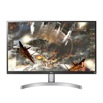 "Монитор LG 27UL650-W, 27"" (68.58 cm) IPS панел, 4K/UHD, 5ms, 5 000 000:1, 350cd/m2, Display Port, HDMI image"