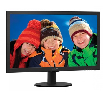 "Монитор Philips 223V5LSB, 21.5"" (54.61 cm) TN панел, Full HD, 5ms, 10 000 000:1, 250cd/m2, VGA, DVI image"