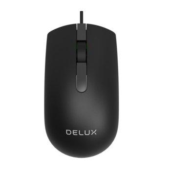 Мишка Delux M322BU, оптична (1000dpi), USB, черна image