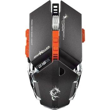 Mишка Dragon War Star Killer G16, оптична (4000 dpi), USB, черна, гейминг, macro функции, LED подсветка image