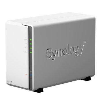 Мрежови диск (NAS) Synology DS220J, четириядрен Realtek RTD1296 1.4 GHz, без твърд диск (2x SATA), 512MB DDR4, 2x USB 3.0  image