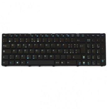 Клавиатура за лаптоп Asus G72 G73 F50 F70SL K52 Black Frame Black Glossy US / UK с Кирилица image