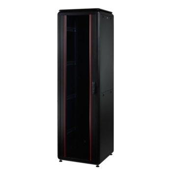 "Комуникационен шкаф Mirsan MR.GTV22U66.01, 19"", 22U, 610 x 610 x 1039, свободностоящ, товароносимост 1000кг, черен image"