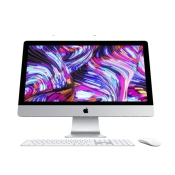 "All in One компютър Apple iMac 27 (Z0VQ00071/BG)(бял), 27"" (68.58 cm) 5K Retina дисплей, шестядрен Coffee Lake Intel Core i5-8500 3.0/4.10 GHz, AMD Radeon Pro 570X 4GB, 8GB DDR4, 1TB SSHD, 2x Thunderbolt 3, клавиатура и мишка, macOS Mojave image"