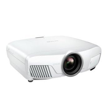 Проектор Epson EH-TW7400, 3LCD, 3D, 4K/UHD (3840x2160), 200.000 : 1, 2400 lm, LAN, HDMI, VGA, USB image