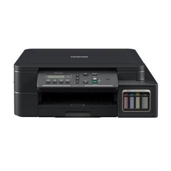 Мултифункционално мастиленоструйно устройство Brother DCP-T310, цветно, принтер/копир/скенер, 1200 x 600 dpi, 27стр/мин, USB, A4  image