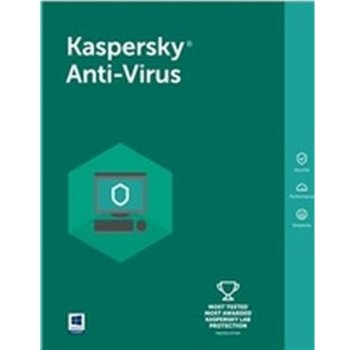 Софтуер Kaspersky Anti-Virus Eastern Europe Edition Base License Pack, лиценз за 1 година, 5 потребителя, Windows image