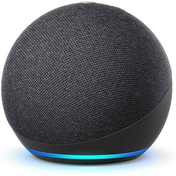 Смарт колонка Amazon Echo Dot 4 Charcoal, 3W, микрофон, Wi-Fi, Bluetooth, AUX, гласов асистент, черна image