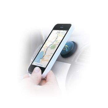 Стойка за телефон TnB, за кола, универсална, магнитна, с лепенка, черна image