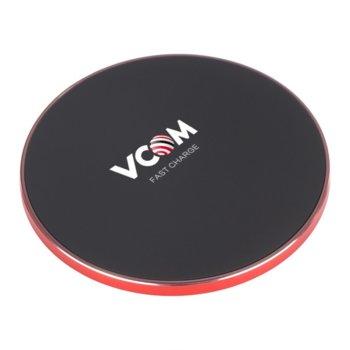 Безжично зарядно устройство VCOM M164, от USB A(ж) към безжично зареждане, 1.1A, Fast Charge, черно image