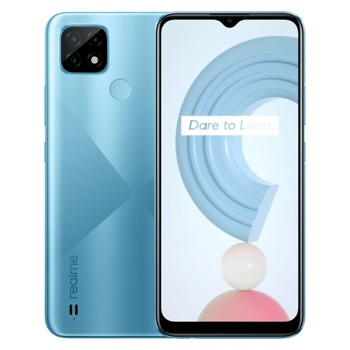 "Смартфон Realme C21 (син), поддържа 2 sim карти, 6.5"" (16.51 cm) IPS дисплей, осемядрен Mediatek Helio G35 4x 2.30 GHz & 4x 1.8GHz, 3GB RAM, 32GB Flash памет (+ microSD слот), 13.0 + 2.0 + 2.0 & 5.0 Mpix камера, Android, 190g image"