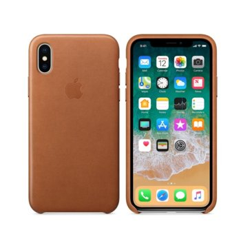 Apple iPhone X Leather Case - Saddle Brown product