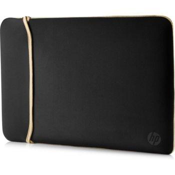 """Калъф за лаптоп HP Neoprene Reversible Sleeve, до 15.6"""" (39.62 cm), черен/златист image"""
