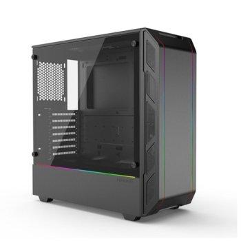 Кутия Phanteks Eclipse P350X (PH-EC350PTG_DBK), ATX/micro ATX/Mini ITX, 2x USB 3.0, темперирано стъкло, RGB, черна, без захранване image