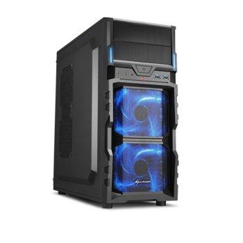 Кутия Sharkoon VG5-V, ATX/Micro ATX, USB 3.0, черна, подсветка, без захранване image