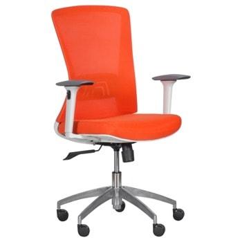 Работен стол Carmen 7543, до 130кг, мрежа, алуминиева база, газов амортисьор, коригиране височина, регулируем люлеещ механизъм, Tilt tension механизъм, заключване в позиция, графит image