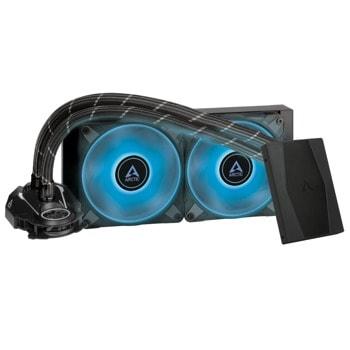 Водно охлаждане за процесор Arctic Liquid Freezer II - 240 RGB Black, съвместимост със сокети Intel LGA 1200/2066/2011-3/2011-0/1156/1155/1151/1150 & AMD AM4 image