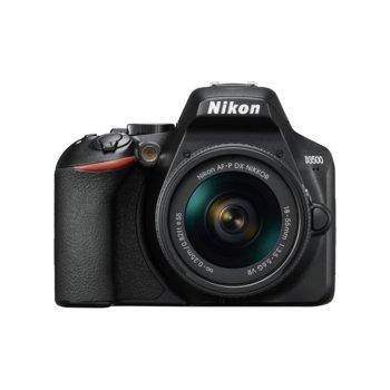 "Фотоапарат Nikon D3500 в комплект с обективи Nikon AF-P 18-55mm VR и AF-P DX NIKKOR 10-20mm f/4.5-5.6G VR, 24.2 Mpix, 3.0"" (7.62 cm) TFT дисплей, SDXC/HC, HDMI, USB, Bluetooth image"