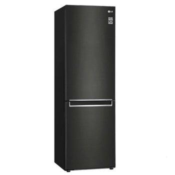 Хладилник с фризер LG GBB61BLJMN, A++, 341L общ обем, свободностоящ, 254 kWh/годишно разход на енергия, Moist Balance Crisper, черен image