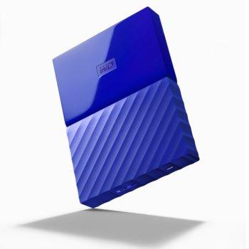 """Твърд диск 1TB Western Digital MyPassport, външен, 2.5""""(6.35cm), USB 3.0, син image"""