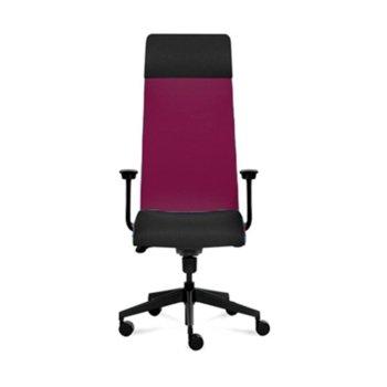 Президентски стол Tronhill Solium Executive (ON4010200073), дамаска и меш, 120 кг. максимално натоварване, 5 заключващи се работни позиции, бордо image