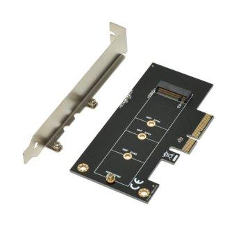 Контролер Makki MAKKI-M2-PCIE-VE1, от PCI-E x4 към M.2 (NVMe) SSD, 30mm, 42mm, 60mm и 80mm image