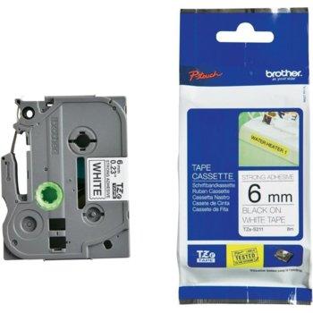 Лента за етикетни принтери BROTHER ТИП TZ - 36mm BLACK on White, P№TZe-S211 image