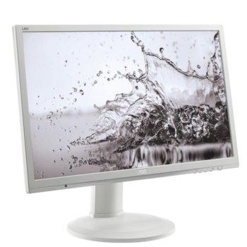 """Монитор AOC E2260PQ, 22"""" (55.58 cm), TN панел, 2ms, WSXGA+, 1000:1, 250cd/m2, DVI, DisplayPort image"""