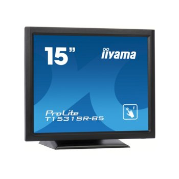 "Монитор Iiyama ProLite T1531SR-B5, 15"" (38.1 cm), TN панел, XGA (1024x768), 8ms, 700:1, 300cd/m2, DP, HDMI, VGA image"
