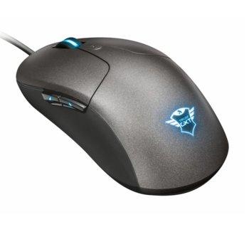 Мишка Trust GXT 180 Kusan Pro Gaming Mouse, оптична 5000 dpi, USB, сив, 6 препрограмируеми бутона, RGB осветление image