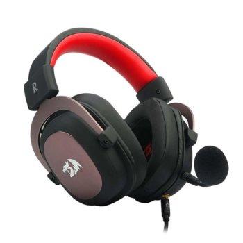 Слушалки Redragon Zeus H510-BK, микрофон, 2.0 m кабел, 2х 3.5mm stereo jack, USB, черен/червен image