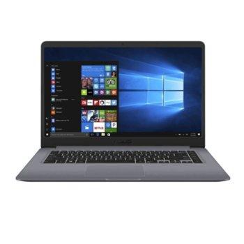 "Лаптоп Asus VivoBook X510UF-EJ696 (90NB0IK2-M12300_90AC02C0-BBT017)(сив) с подарък външна батерия Asus, двуядрен Kaby Lake Intel Core i3-7020U 2.30 GHz, 15.6"" (39.62 cm) Full HD Anti-Glare Display & GF MX 130 2GB, (HDMI), 8GB, 256GB SSD, Linux image"