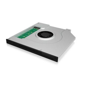 Адаптер RaidSonic ICY BOX IB-AC647, за M.2 SSD(до 2280) дискове чрез 9.5мм DVD драйв, 6 Gbit/s, регулируем вентилатор image