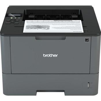 Лазерен принтер Brother HL-L5200DW, монохромен, 1200x1200 dpi, 40стр/мин, двустранен печат, Wi-Fi, LAN, USB, A4, 2+1 г. image