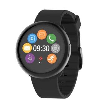 Смарт часовник MyKronoz ZeRound 2, Bluetooth, IP56, Android/IOS, черен image